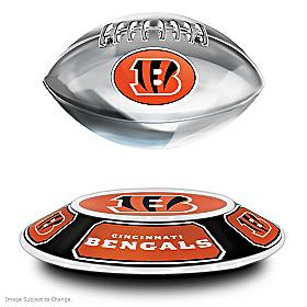 Cincinnati Bengals Levitating Football Sculpture