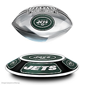 New York Jets Levitating Football Sculpture