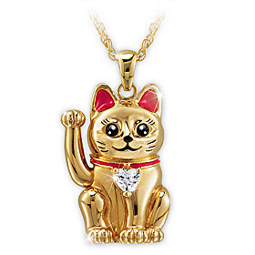 Legend Of The Lucky Cat Pendant Necklace