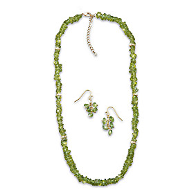 Nature's Splendor Necklace And Earrings Set