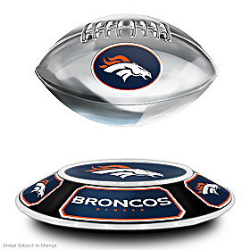 Denver Broncos Levitating Football Sculpture