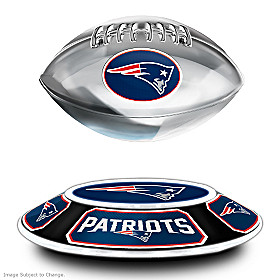 New England Patriots Levitating Football Sculpture