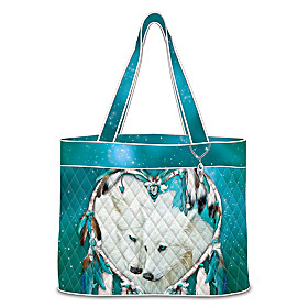 Heart Of Wolves Tote Bag