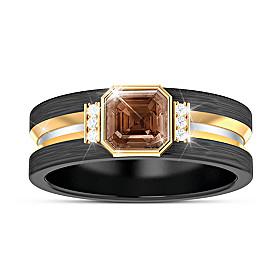 Special Reserve Bourbon Quartz And Diamond Ring