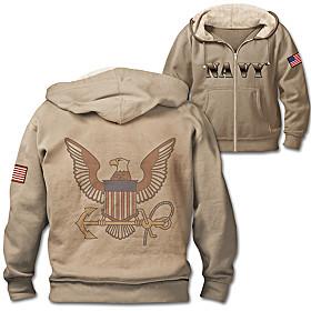 Navy Pride Men's Hoodie
