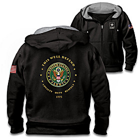 Proud To Serve U.S. Army Men's Hoodie
