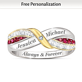 Our Love Forever Personalized Ring