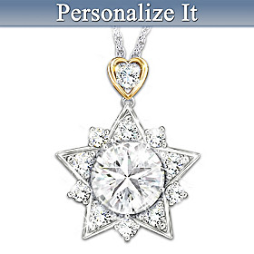 My Shining Granddaughter Personalized Pendant Necklace