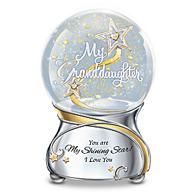 My Granddaughter, You Are My Shining Star Glitter Globe