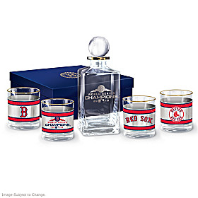 Boston Red Sox 2018 World Series Champions Decanter Set