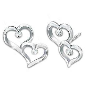 Always My Granddaughter Diamond Earrings