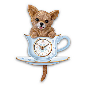 Chihuahua Pup In A Cup Wall Clock