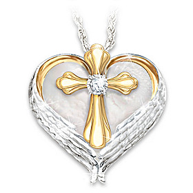 Comfort And Faith Diamond Pendant Necklace