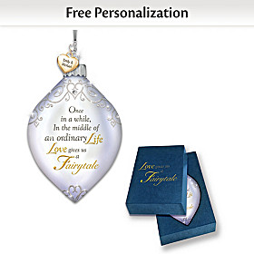 Dazzling Holiday Romance Personalized Ornament