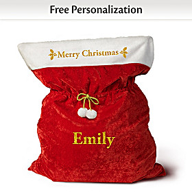 A Merry Christmas Personalized Santa Bag
