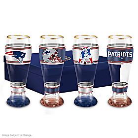 New England Patriots Pilsner Glass Set