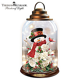 Thomas Kinkade White Christmas Lantern