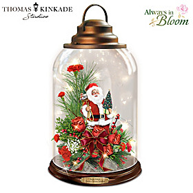 Thomas Kinkade Santa's Warm Wishes Lantern
