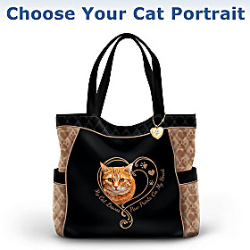 Paw Prints On My Heart Cat Tote Bag