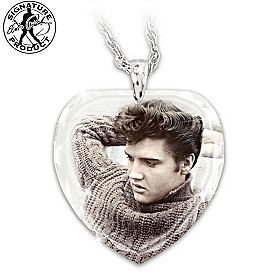 Elvis Love Me Tender Pendant Necklace