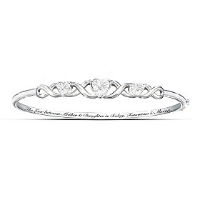 Mother & Daughter, Love Always Diamond Bracelet