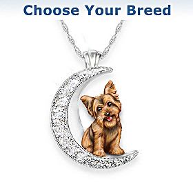 I Love My Dog To The Moon And Back Pendant Necklace