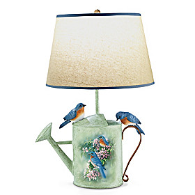 Country Bluebirds Lamp
