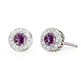 Classic Glamour Gemstone & Diamond Earrings