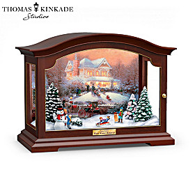 Thomas Kinkade Warm Winter Memories Music Box