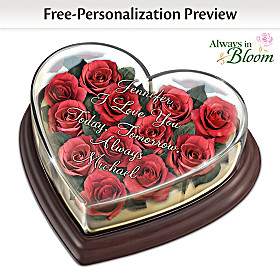 Love Blooms Forever Personalized Table Centerpiece