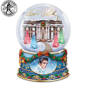 Merry Christmas From Graceland Glitter Globe
