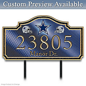 Dallas Cowboys Personalized Address Sign