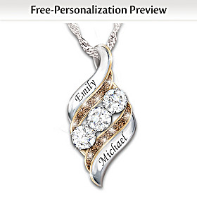 Today, Tomorrow & Always Personalized Pendant Necklace