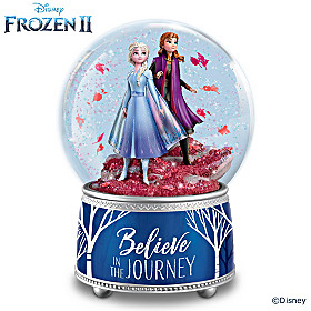 Disney FROZEN 2 Believe In The Journey Glitter Globe