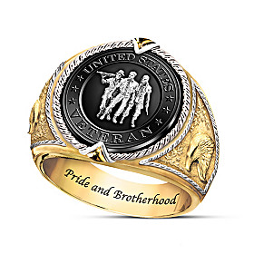 United States Veteran Commemorative Ring