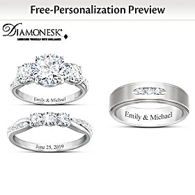 Infinite Love Personalized Wedding Ring Set