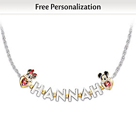 Disney Believe In The Magic In You Personalized Necklace