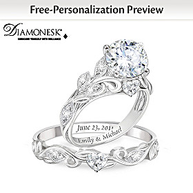 Our Love Blooms Forever Personalized Ring Set