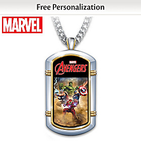 MARVEL Hero Personalized Pendant Necklace
