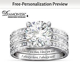 Always My Love Personalized Ring Set