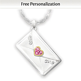 My Granddaughter, I Love You Personalized Pendant Necklace