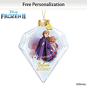 Disney Believe In The Journey Anna Personalized Ornament