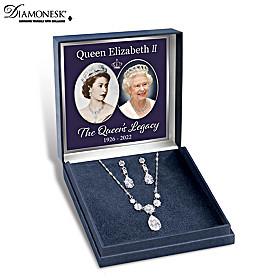 Royal Coronation Necklace And Earrings Set