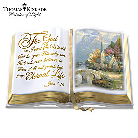 Thomas Kinkade The Word Of God Sculpture