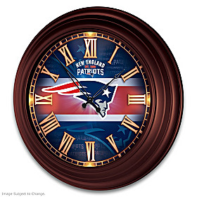 New England Patriots Wall Clock