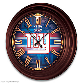 New York Giants Wall Clock