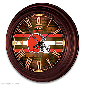 Cleveland Browns Wall Clock