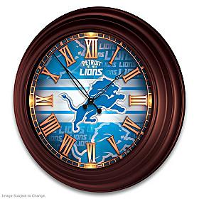 Detroit Lions Wall Clock