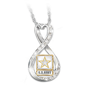 I Love My Soldier Pendant Necklace