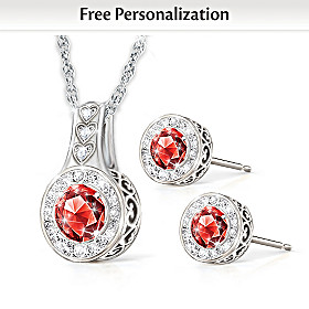 I'll Love You Forever Personalized Necklace & Earrings Set
